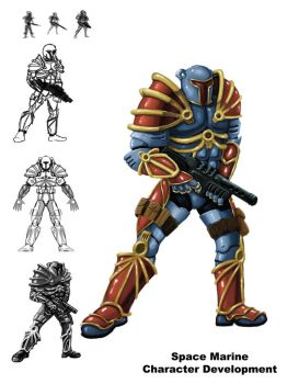 Space Marine by battlereaper