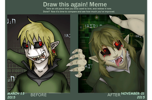 BEN Drowned: Before and After meme by DarkRainfire