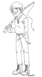 Willy - Free line art - Stardew Valley by hinoraito