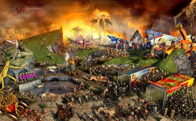 Triumph of Death III ( Dawn of the Dead ) by Polygonist