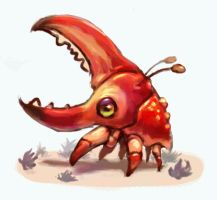 Crabhorn Beetle by EnemyDesign