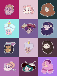 The Thirteen Queens of Mewni by nahrgles
