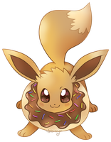 Let's go get some donuts, Eevee! by Ambunny