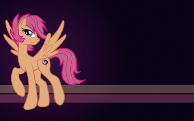 Adult Scootaloo Wallpaper (left side for mac) by maxtervamp