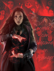 Elizabeth Olsen as Scarlet Witch |ID| by DamageDoneIsForever