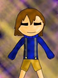 outertale frisk  by pigdrawer99