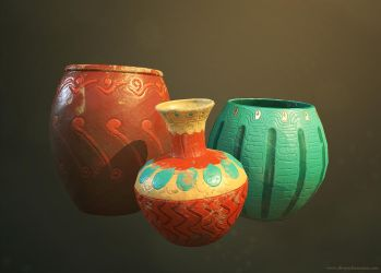 Ancient Vases by crazy-pixel