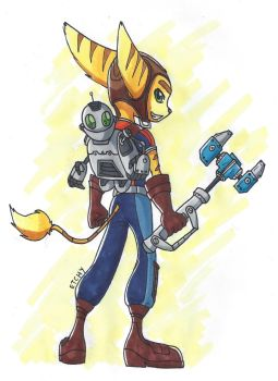 Ratchet and Clank by LankySandwich