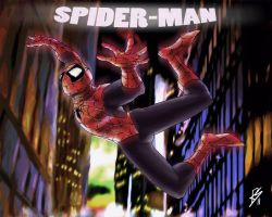 Falling Spider by Richs-comics