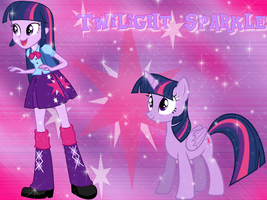 Twilight Sparkle and Princess pony Wallpaper by NatouMJSonic