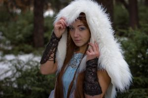 Skadi - goddess of winter and hunt-  stock by Liancary-art