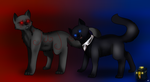 Red and Blue  (SPEEDPAINT) by Blarien