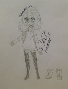 Camelia (young) drawing 4 by KlfunsskXD
