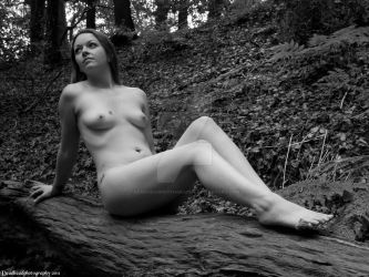 Nude in woods 2 by deadheadphotography