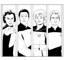 Lineart Panels - Star Trek TNG 02 by Dahkur