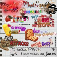.-10 textos PNG by ColourShine