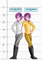 Otherworldly Height Chart - The Sidhe Twins by BeckHop