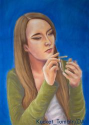 Self Portrait in Pastels by Kucket