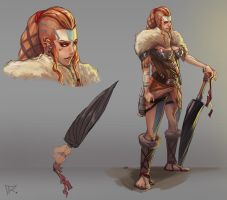 Concept character - RPG - Female viking by RamzyKamen
