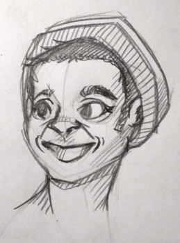 Just a sketch - guy with beanie by RazorCheeks
