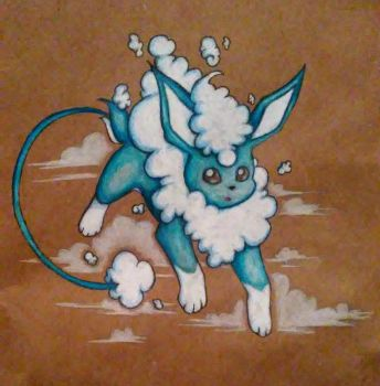 Flying type Eevee-fakemon by mich-spich