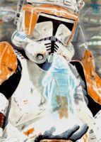 Commander Cody - Order 66 Sketch card by TolZsolt