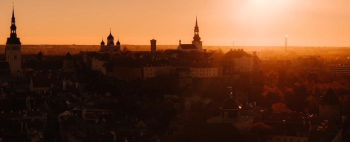 toompea hill, tallinn old town by dzorma