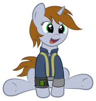 Littlepip being adorable by Commander-Sparkle