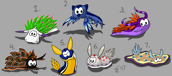Pet Nudibranches by Electric-Mongoose