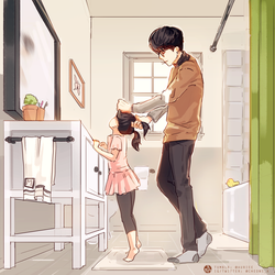 No.1 Dad Yoongi by Aureta
