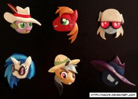 My Little Pony Clay Magnet Set 2 by HeyLookASign