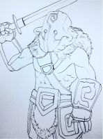 DOTA2 Juggernaut Rough draft by JasonAvenger23