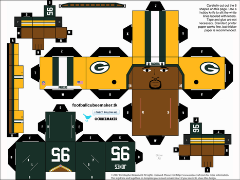 Datone Jones Packers Cubee by etchings13