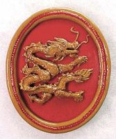 Chinese Dragon Brooch by beadpcnexus