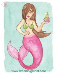 Dragon Fruit Mermaid - MerMonday August 13th 2018 by DreamPigment