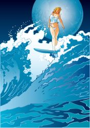 Vector Beauty Surfing Venus by solterbeck65