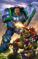 Seahawks 40k by BlondTheColorist