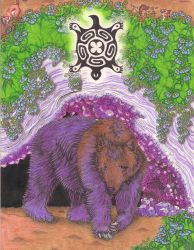 Native Zodiac - Brown Bear by xX-C-h-a-r-l-i-e-Xx