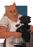 Commission - Steamhawke - The Kitlings by FionaCreates