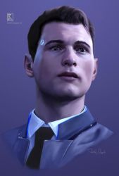 DETROIT BECOME HUMAN - Connor by krassmoss