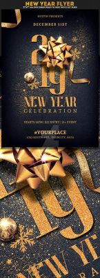 New Year Eve Invitation Flyer Template by Hotpindesigns