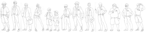 Characters from the Jurassic Park Novel by Green-Mamba