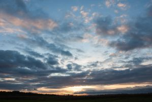 Evening Sky Clouds by ManicHysteriaStock
