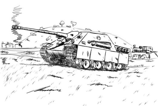 Jagdpanther speed doodle by TheSourKraut