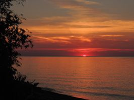 Lake Erie Sunset by dmguthery