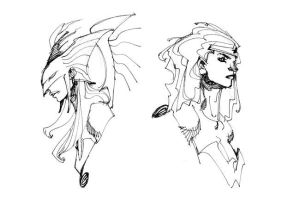HAWKGIRL and WONDER WOMAN by EricCanete