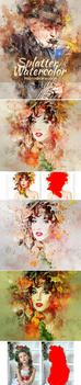 Splatter Watercolor Photoshop Action by GraphicAssets