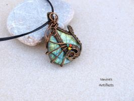 OOAK Labradorite drop wire wrapped pendant by IanirasArtifacts