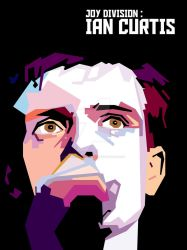 Ian Curtis in WPAP by snowbrigadeartwork