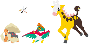Klefki, Torkoal, Hawlucha and Girafarig Base